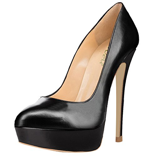 AOOAR-Womens-Hidden-Platform-High-Heel-Black-PU-Party-Pumps-7-M-US-0