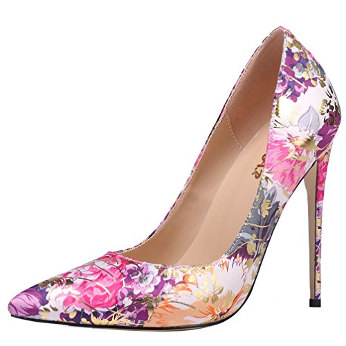 AOOAR-Womens-High-Heel-Floral-Fushia-Purple-Satin-Party-Pumps-95-M-US-0
