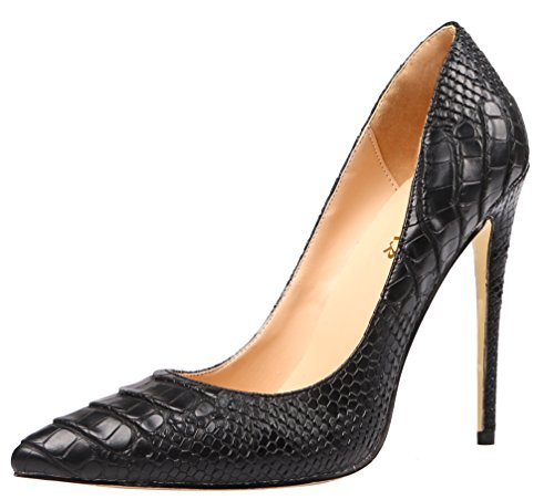 AOOAR-Womens-High-Heel-Snakeskin-Print-Black-PU-Party-Pumps-75-M-US-0