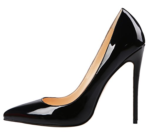 AOOAR-Womens-High-Heel-Solid-Black-Patent-Party-Pumps-12-M-US-0-0