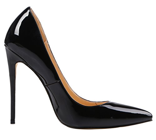 AOOAR-Womens-High-Heel-Solid-Black-Patent-Party-Pumps-12-M-US-0-2