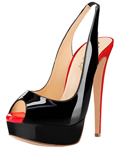 AOOAR-Womens-Peep-Toe-High-Heels-Party-Pumps-with-Platform-0