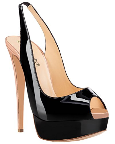 AOOAR-Womens-Peep-Toe-High-Heels-with-Platforml-Black-Nude-Patent-Party-Pumps-10-M-US-0
