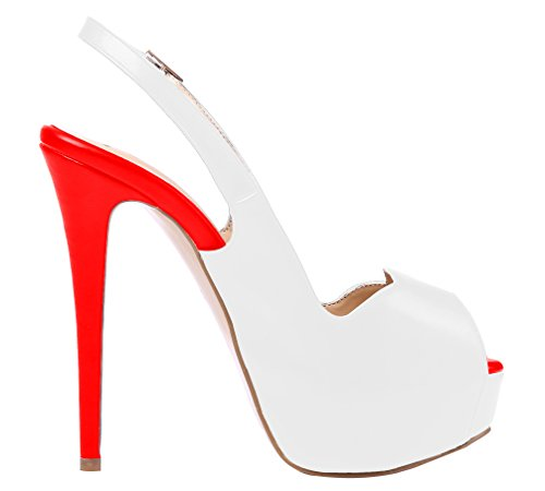 AOOAR-Womens-Slingback-High-Heels-with-Hidden-Platform-White-Red-PU-Party-Pumps-11-M-US-0-2