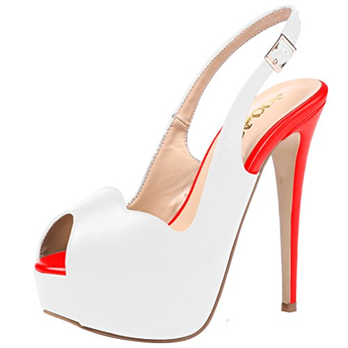 AOOAR-Womens-Slingback-High-Heels-with-Hidden-Platform-White-Red-PU-Party-Pumps-11-M-US-0