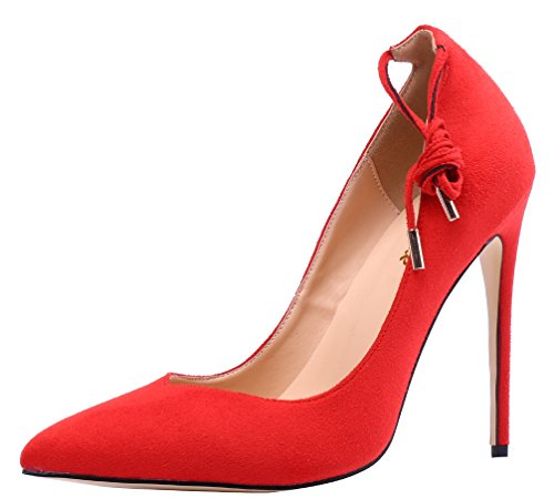 AOOAR-Womens-Solid-Ankle-Strap-Red-Party-Pumps-8-M-US-0