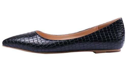 AOOAR-Womens-Solid-Pointed-Toe-Black-Stone-Pattern-Flats-8-M-US-0-0