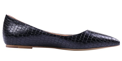 AOOAR-Womens-Solid-Pointed-Toe-Black-Stone-Pattern-Flats-8-M-US-0-2