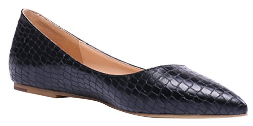 AOOAR-Womens-Solid-Pointed-Toe-Black-Stone-Pattern-Flats-8-M-US-0-3