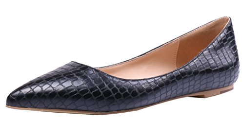 AOOAR-Womens-Solid-Pointed-Toe-Black-Stone-Pattern-Flats-8-M-US-0