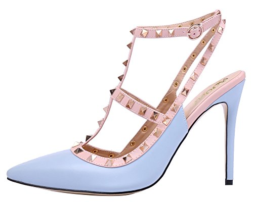 AOOAR-Womens-T-Strap-Light-Blue-PU-Pumps-10-M-US-0-0