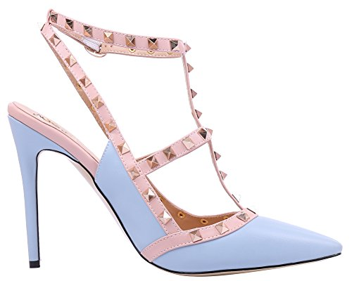 AOOAR-Womens-T-Strap-Light-Blue-PU-Pumps-10-M-US-0-1