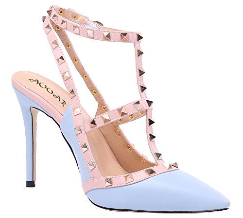 AOOAR-Womens-T-Strap-Light-Blue-PU-Pumps-10-M-US-0-2