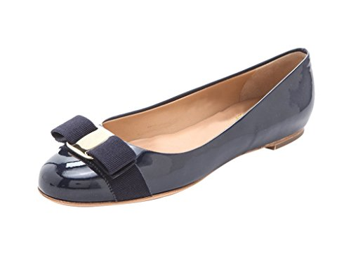 Guoar-Womens-Ballet-Flats-Big-Size-Chic-Bowkont-Flats-Round-Toe-Patent-Pumps-Shoes-for-Dressing-Work-Navy-US-9-0-0