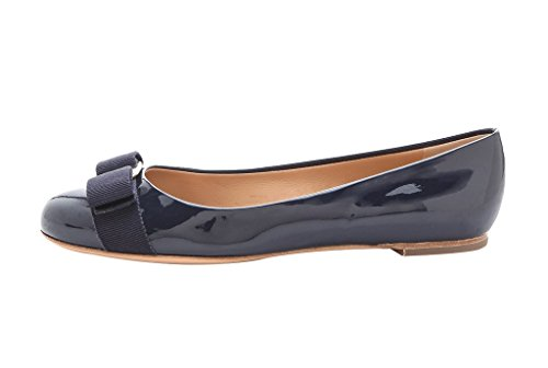 Guoar-Womens-Ballet-Flats-Big-Size-Chic-Bowkont-Flats-Round-Toe-Patent-Pumps-Shoes-for-Dressing-Work-Navy-US-9-0