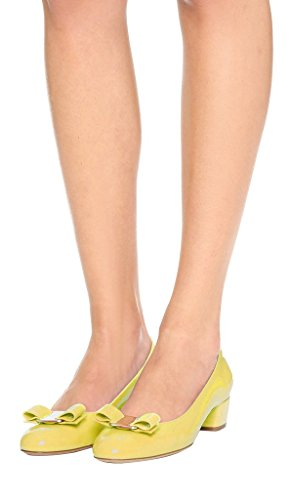 Guoar-Womens-Closed-Toe-Block-Heels-Patent-Bowknot-Pumps-Shoes-Low-Heels-For-Dress-Party-Yellow-US-11-0-2