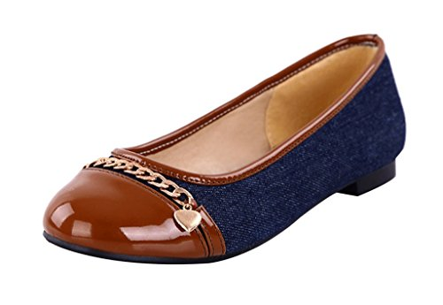 Guoar-Womens-Flats-Big-Size-Court-Shoes-Round-Toe-Denim-Pumps-for-Dresses-Brown-US-65-0-1