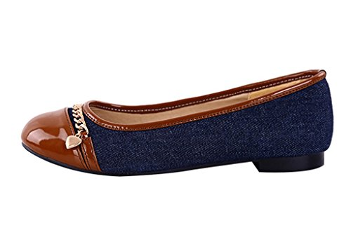Guoar-Womens-Flats-Big-Size-Court-Shoes-Round-Toe-Denim-Pumps-for-Dresses-Brown-US-65-0