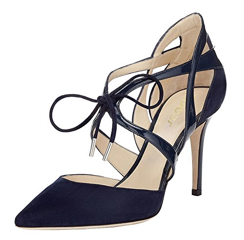 Guoar-Womens-High-Heel-Sandals-Big-Size-Solid-Shoes-Pointed-Toe-Dress-Lace-up-Pumps-for-Wedding-Party-Navy-US11-0-0
