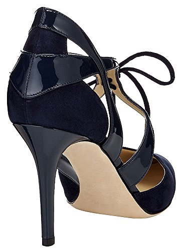 Guoar-Womens-High-Heel-Sandals-Big-Size-Solid-Shoes-Pointed-Toe-Dress-Lace-up-Pumps-for-Wedding-Party-Navy-US11-0-1