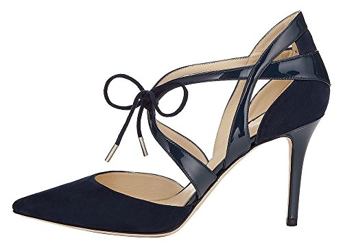 Guoar-Womens-High-Heel-Sandals-Big-Size-Solid-Shoes-Pointed-Toe-Dress-Lace-up-Pumps-for-Wedding-Party-Navy-US11-0