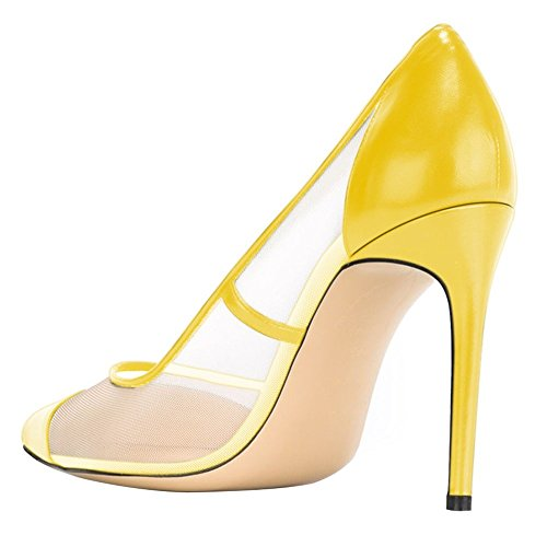 Guoar-Womens-Mesh-Stiletto-Heel-Big-Size-Shoes-Pointed-Toe-Ladies-Pumps-for-Work-Place-Dress-Yellow-US-8-0-2