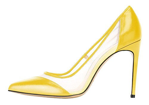 Guoar-Womens-Mesh-Stiletto-Heel-Big-Size-Shoes-Pointed-Toe-Ladies-Pumps-for-Work-Place-Dress-Yellow-US-8-0