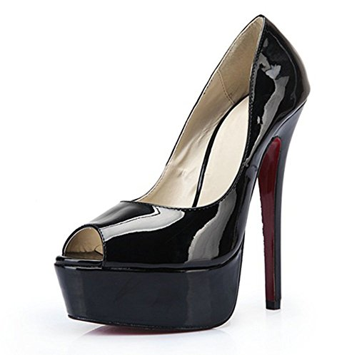 Guoar-Womens-Peep-Toe-High-Heels-Patent-Leather-Platform-Pumps-Shoes-for-Party-Wedding-Black-US-125-0-0
