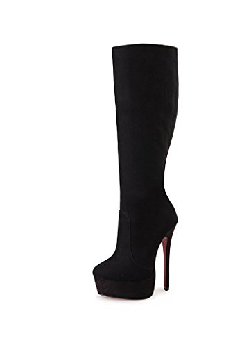 Guoar-Womens-Plus-Size-Platform-High-Heels-Knee-High-Boots-for-Party-Wedding-Dress-Black-Suede-US-14-0-0