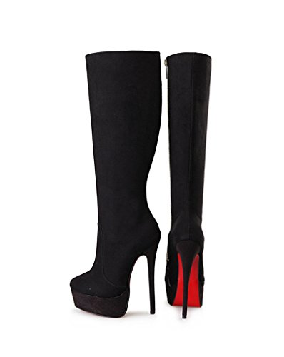 Guoar-Womens-Plus-Size-Platform-High-Heels-Knee-High-Boots-for-Party-Wedding-Dress-Black-Suede-US-14-0-1