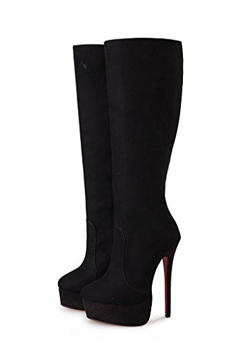 Guoar-Womens-Plus-Size-Platform-High-Heels-Knee-High-Boots-for-Party-Wedding-Dress-Black-Suede-US-14-0-3