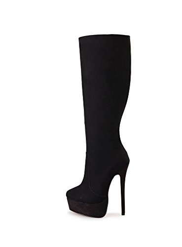 Guoar-Womens-Plus-Size-Platform-High-Heels-Knee-High-Boots-for-Party-Wedding-Dress-Black-Suede-US-14-0