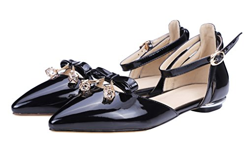 Guoar-Womens-Pointed-Toe-Patent-Flats-Ankle-Strap-Sandals-Chic-Bowknot-Pumps-Ballet-Shoes-Black-US-10-0-1