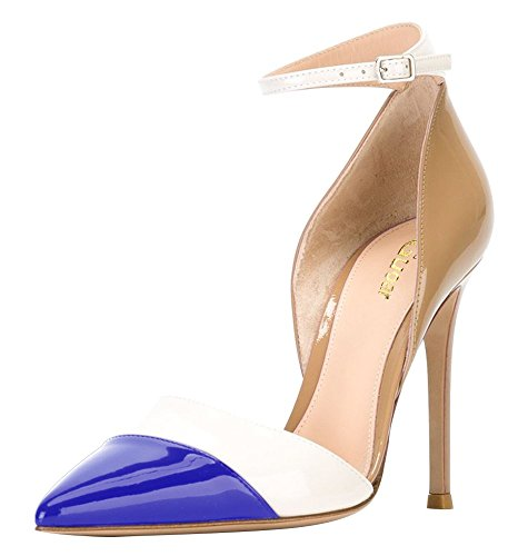 Guoar-Womens-Stiletto-Big-Size-Heel-Sandals-Pointed-Toe-Colourful-Patent-Pumps-for-Wedding-Party-Dress-Khaki-Blue-US8-0-0