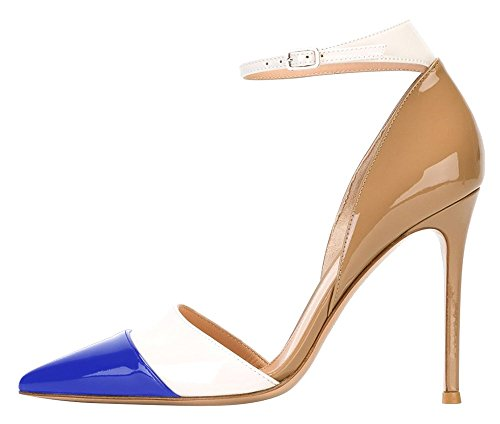 Guoar-Womens-Stiletto-Big-Size-Heel-Sandals-Pointed-Toe-Colourful-Patent-Pumps-for-Wedding-Party-Dress-Khaki-Blue-US8-0