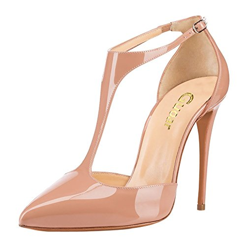 Guoar-Womens-Stiletto-Big-Size-Heel-Sandals-Pointed-Toe-Colourful-Patent-Pumps-for-Wedding-Party-Dress-Nude-US15-0-1