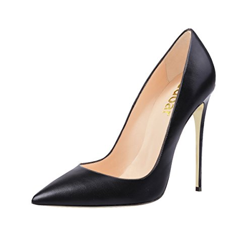 Guoar-Womens-Stiletto-Big-Size-Shoes-Pointed-Toe-Patent-Ladies-Solid-Pumps-for-Work-Place-Dress-Party-Black-PU-US75-0