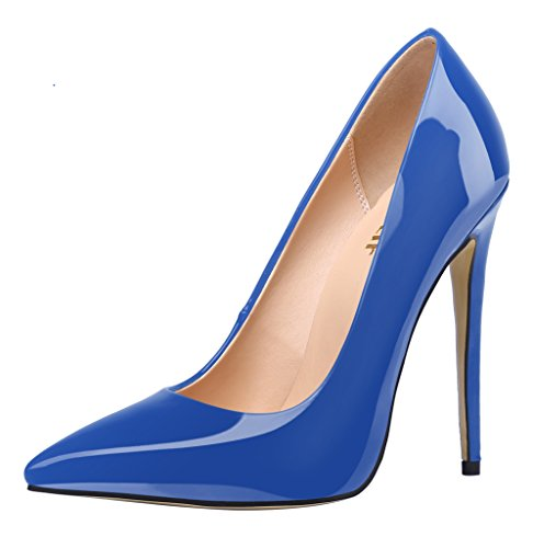 Guoar-Womens-Stiletto-Heel-Plus-Size-Solid-Shoes-Pointed-Toe-Patent-Pumps-for-Wedding-Party-Dress-Blue-US65-0-0