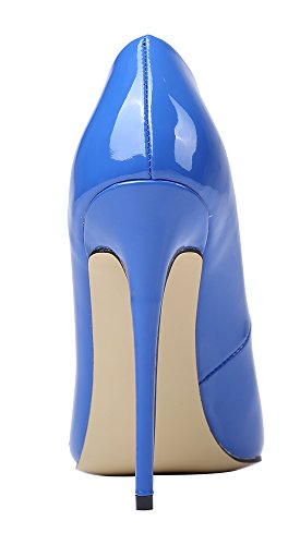 Guoar-Womens-Stiletto-Heel-Plus-Size-Solid-Shoes-Pointed-Toe-Patent-Pumps-for-Wedding-Party-Dress-Blue-US65-0-3
