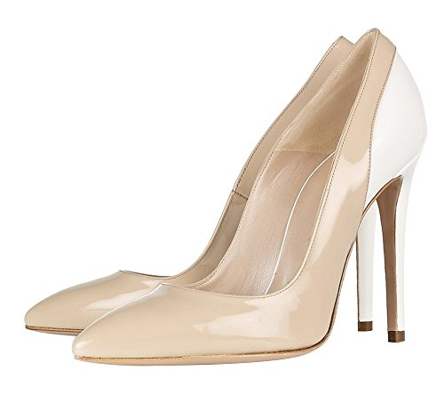 Guoar-Womens-Stiletto-Heel-Sandals-Big-Size-Shoes-Pointed-Toe-Contrast-Color-Pumps-for-Wedding-Party-Dress-Nude-US12-0-0
