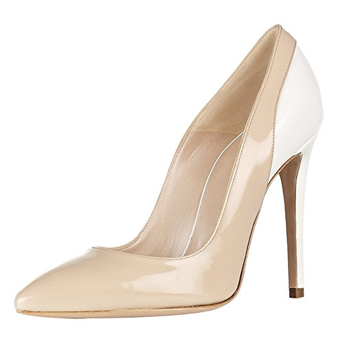Guoar-Womens-Stiletto-Heel-Sandals-Big-Size-Shoes-Pointed-Toe-Contrast-Color-Pumps-for-Wedding-Party-Dress-Nude-US12-0