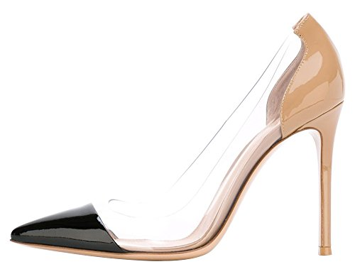 Guoar-Womens-Stiletto-Heel-Sandals-Big-Size-Solid-Shoes-Pointed-Toe-Patent-Pumps-for-Wedding-Party-Dress-Black-and-Nude-US13-0
