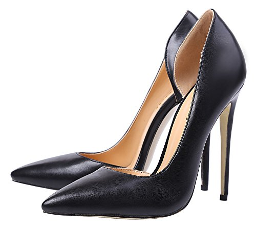 Guoar-Womens-Stiletto-Heels-Sandals-Big-Size-Shoes-Pointed-Toe-DOrsayTwo-Piece-Pumps-for-Wedding-Party-Dress-Black-US6-0-3