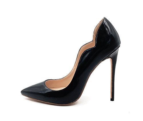 Guoar-womens-Heat-girl-Pointed-Toe-High-Heels-Black-Suede-Pumps-Shoes-size-5-12-US-95-0