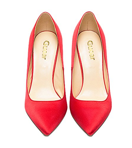 Guoar-womes-Pointed-Toe-Large-Size-Stiletto-High-Heel-Red-Silk-Special-Materials-Pumps-shoes-Size-US9-0-2