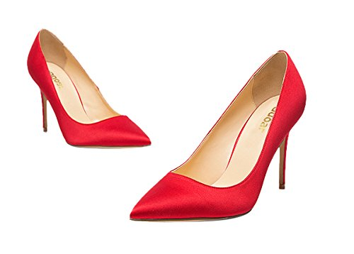 Guoar-womes-Pointed-Toe-Large-Size-Stiletto-High-Heel-Red-Silk-Special-Materials-Pumps-shoes-Size-US9-0-3