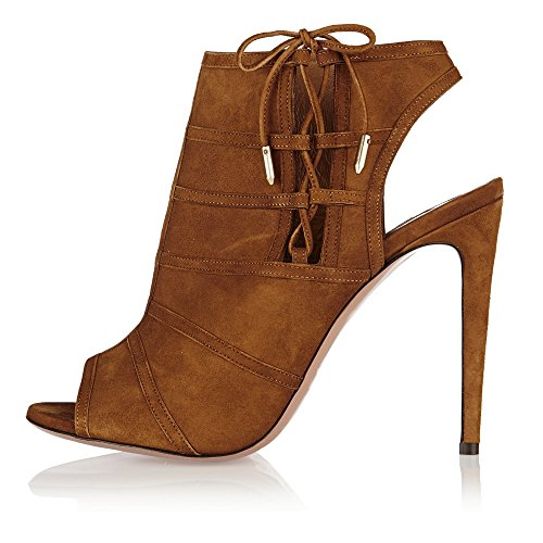 JOOGO-Women-Peep-Toe-Lace-up-Slingback-High-Slim-Heel-Boots-0