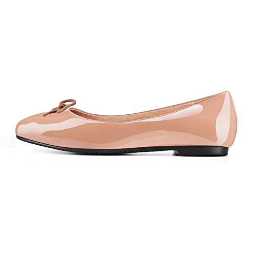 JOOGO-Women-Round-Toe-Flats-Patent-Leather-Lined-Flat-with-Cute-Bow-Dress-shoes-0