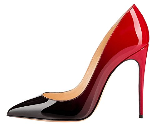 MONICOCO-Womens-Big-Size-Pointed-Toe-Stiletto-Heels-Gradient-Color-Pumps-Shoes-Patent-14-M-US-0