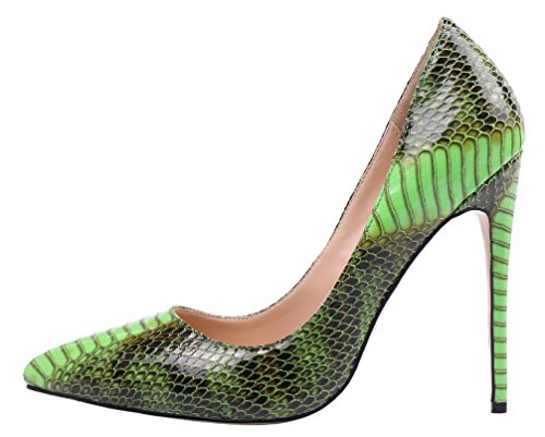 MONICOCO-Womens-Pointed-Toe-Snake-Print-Party-Pump-Shoes-Green-12-M-US-0